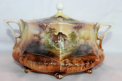 Fabulous RS Prussia Three Scene Cracker jar /  $ 325 7 days only