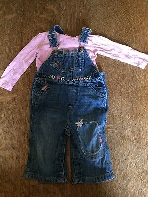 Baby Girl Gap Dungarees 6-12 Months