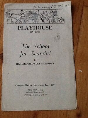 "Playhouse, Oxford - 1947 ""The School For Scaudal"" John Moffall"