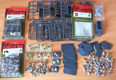 lote variado británico mid (8th Army), Battlefront, flames of war, 1/100, 15 mm