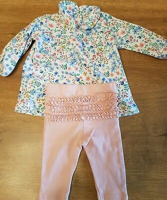 Baby girls 2 piece set,  top and tunic from m&s