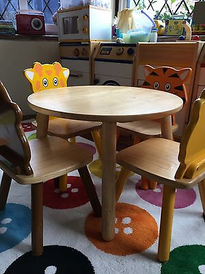 Children's Pintoy John Crane Wooden Table & Chairs From John Lewis