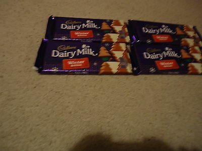 BRAND NEW DAIRY MILK WINTER WONDERLAND CHOCOLATE BARS x4 100g