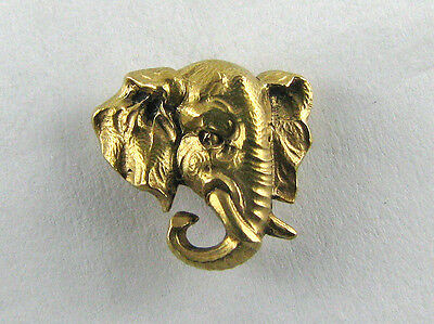 Epingle de cravate or 18 K Eléphant
