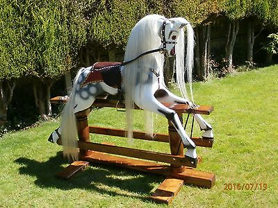Extra large restored wooden  Victorian  Rocking Horse