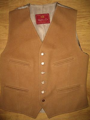 Stunning 1940's mens vintage Dunn & Co brown waistcoat size small exc condition