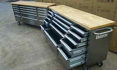 """72"""" Mechanics tool chest, tool box, work bench, Stainless steel Top quality!"""