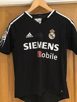 Micheal Owen Signed Real Madrid Shirt
