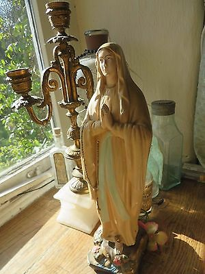 BEAUTIFULLY SERENE VINTAGE FRENCH  PLASTER  STATUE / FIGURE  C. 1930's ~