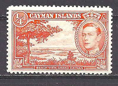 CAYMAN ISLANDS , 1938/43 , KING GEORGE VI , 1/4p STAMP ,  PERF, VLH