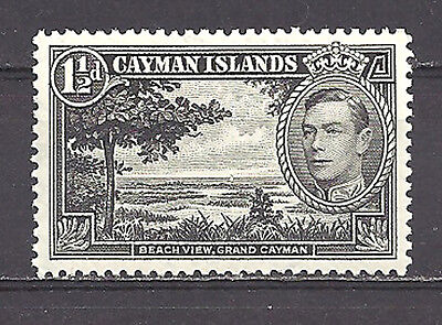 CAYMAN ISLANDS , 1938/43 , KING GEORGE VI , 11/2p STAMP ,  PERF, VLH