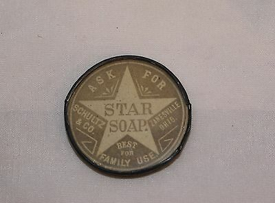 Vintage Early Star Soap Pocket Mirror Free Shipping