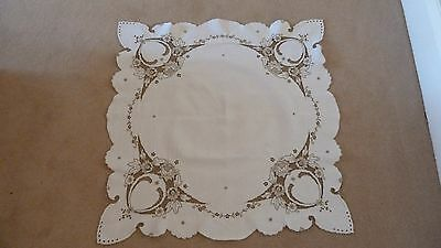 Lovely cream lace linen tablecloth