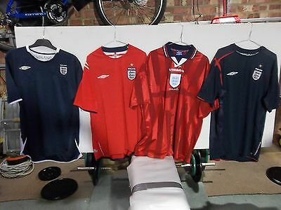England Football Shirts (4 shirts in total) Size XXL