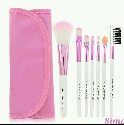 Set Pennelli Trucco Make Up Custodia Kit Beauty Professionale Cosmetic Spazzola