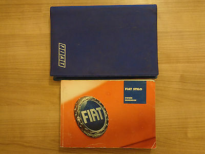 Fiat Stilo Owners Handbook Manual and Wallet 01-04