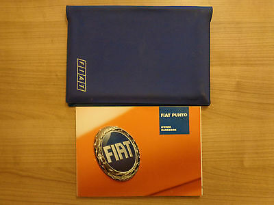 Fiat Punto Owners Handbook Manual and Wallet 00-03