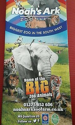 ONE NOAHS ARK ZOO FARM VOUCHER for child goes free with a paying adult.