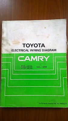 Toyota Workshop Manual Electrical Wiring Diagram Camry Oct 1986 Series Sv2/cv20