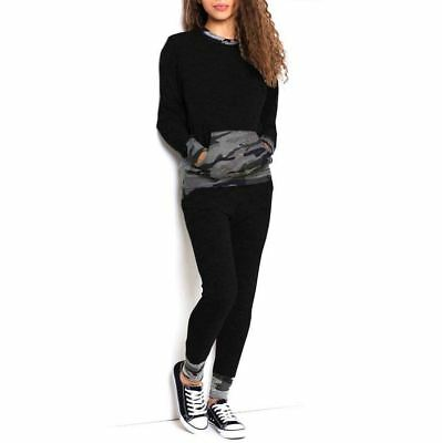 New Womens Ladies Camouflage Army Print Loungewear Tracksuit Joggers Pants 8-26