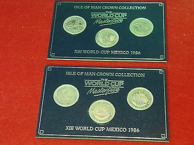 Isle Of Man Crown Collection  X111 World Cup Mexico 1986 Coins (6)