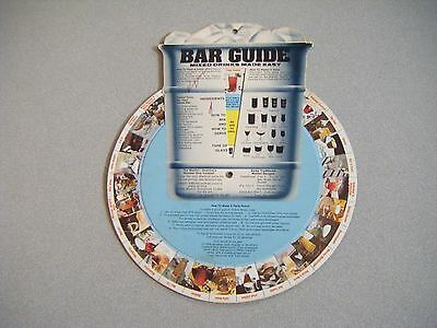 Vintage 1960's 1970's  Bar Guide Tool Wall Mount Mixed Drink Recipes