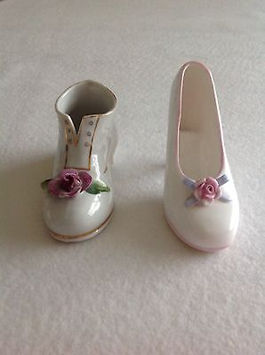 porcelain shoe and a boot