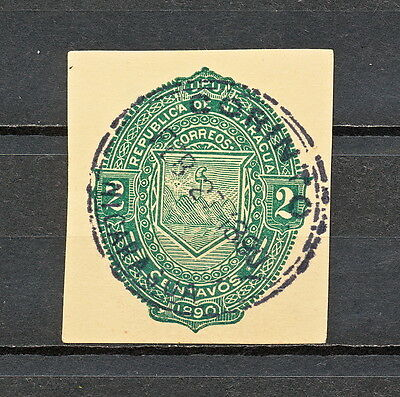 Nnbh 373 Nicaragua 1890 Used Corinto Stationery Cut Squares