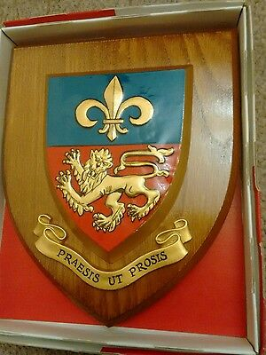 Lancaster Royal Grammer School Crest Shield Plaque Boxed