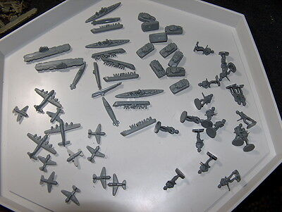 Axis & Allies: German GRAY Replacement Pieces 1986
