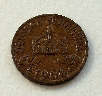 German East Africa 1904 A 1/2 Heller Coin - Nice High Grade Coin @ No Reserve