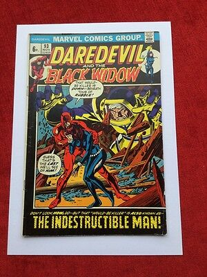 DAREDEVIL AND THE BLACK WIDOW #93   Bronze Age Marvel Comics 1972 VG