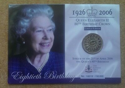 1926-2006 Queen Elizabeth 80Th Birthday Crown The London Mint £5 Coin