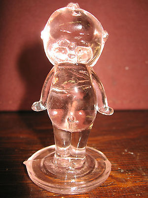 pink rose glass Kewpie cupie doll girl figurine boyd childs baby figure children