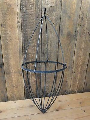 Wrought Iron Hanging Basket Two Piece Planter Strong Solid - No Chain    B