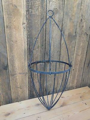 Wrought Iron Hanging Basket Two Piece Planter Strong Solid - No Chain    A