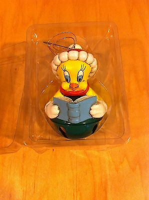 TWEETY BIRD 1995 LOONEY TUNES Warner Bros BELL CHRISTMAS ORNAMENT