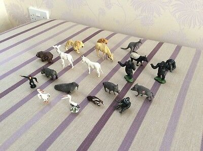 A collection of Vintage Britains Plastic, Zoo, Wild,  animals