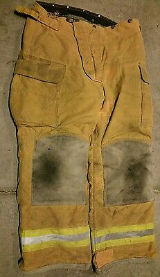 36x30 Lion Apparel Pants FIREFIGHTER TURNOUT Bunker Gear Nomex Liner #22