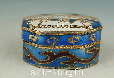Chinese Old Mini Cloisonne Collection Handmade Box