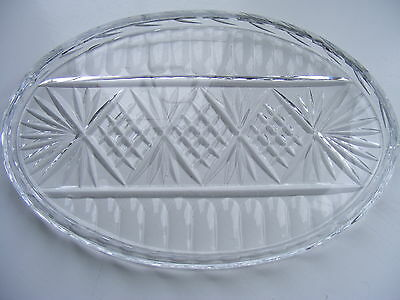 Vintage Cut Glass Dressing Table Tray