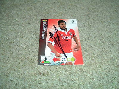 Ezequiel Garay - Benfica - Signed Panini 12/13 Trade Card