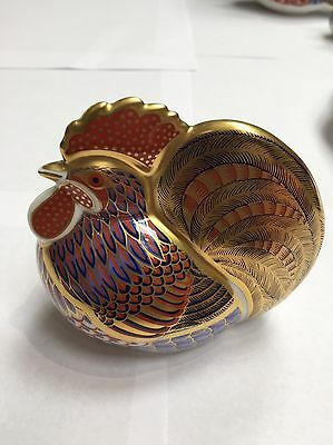Royal crown Derby Paperweight Gold Stopper The Cockerel