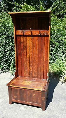 Amish Built Unfinished Reclaimed Barn Wood Hall/foyer Coat Tree Rack Cabinet