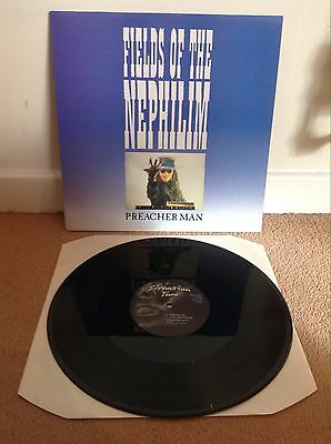 """Fields Of The Nephilim - Preacher Man 12"""" 1986 Situation Two Goth Excellent!"""