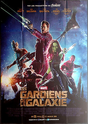 2014 GUARDIANS OF THE GALAXY MArvel French 47x63 movie poster