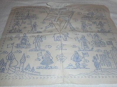 Vintage Embroidery Iron on Transfer- Woman's - The Nations Rejoice