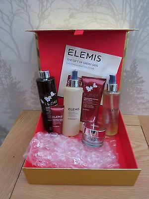 New Elemis The Gift Of Great Skin 6 Piece Face And Body Red
