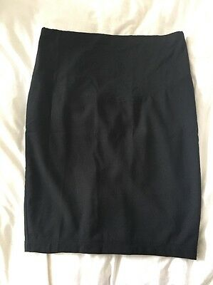 Jojo Maman Bebe Maternity Black Pencil Skirt Size 10
