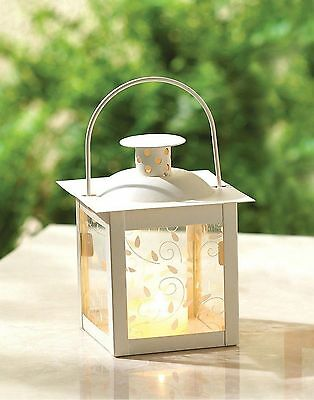 Candle Lanterns Silk Petals Floating Candles Wedding Centerpiece Table Decor Mix